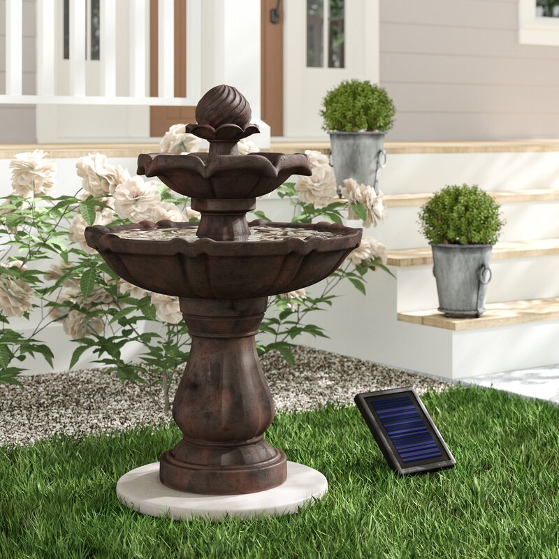 Malpelo Resin Solar Fountain