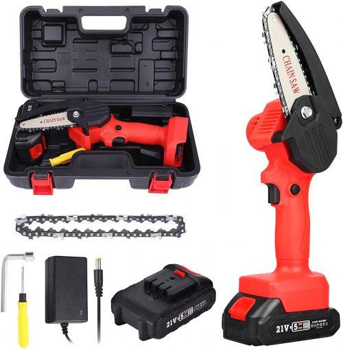 New Huing Mini Cordless Chainsaw Kit