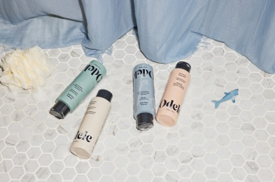 Odele_Body-Wash_four-options_lifestyle-on-shower-floor