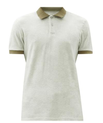 Orlebar Brown Jarrett Cotton Terry Toweling Polo Shirt