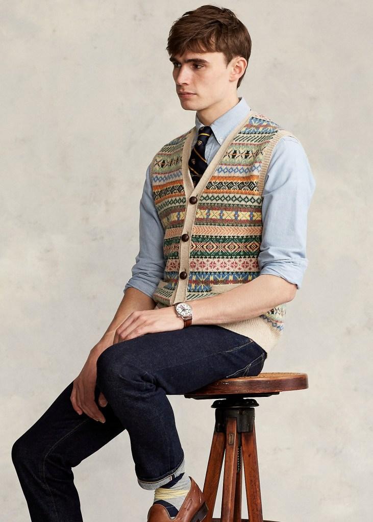 Ralph-Lauren-Fair-Isle-Sweater-Vest