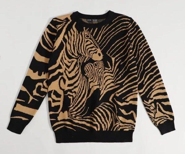 SHEIN-Zebra-Pattern-Sweaterv