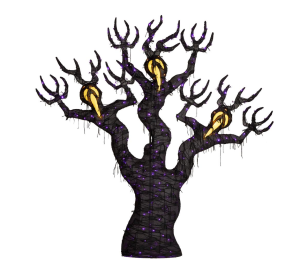 Home depot LED ghost tree, large Halloween decorations