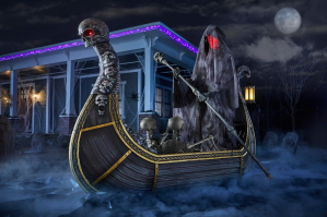 giant-sized LED ferry of the dead