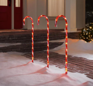 home accents holiday candy cane pathway lights, how to hang Christmas lights