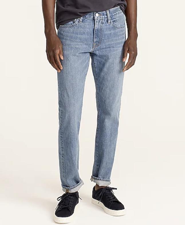 J.Crew 484 Slim-fit jean in five-year wash