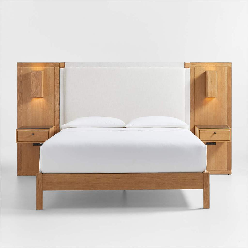 Shinola Hotel Bed with Panel Nightstands