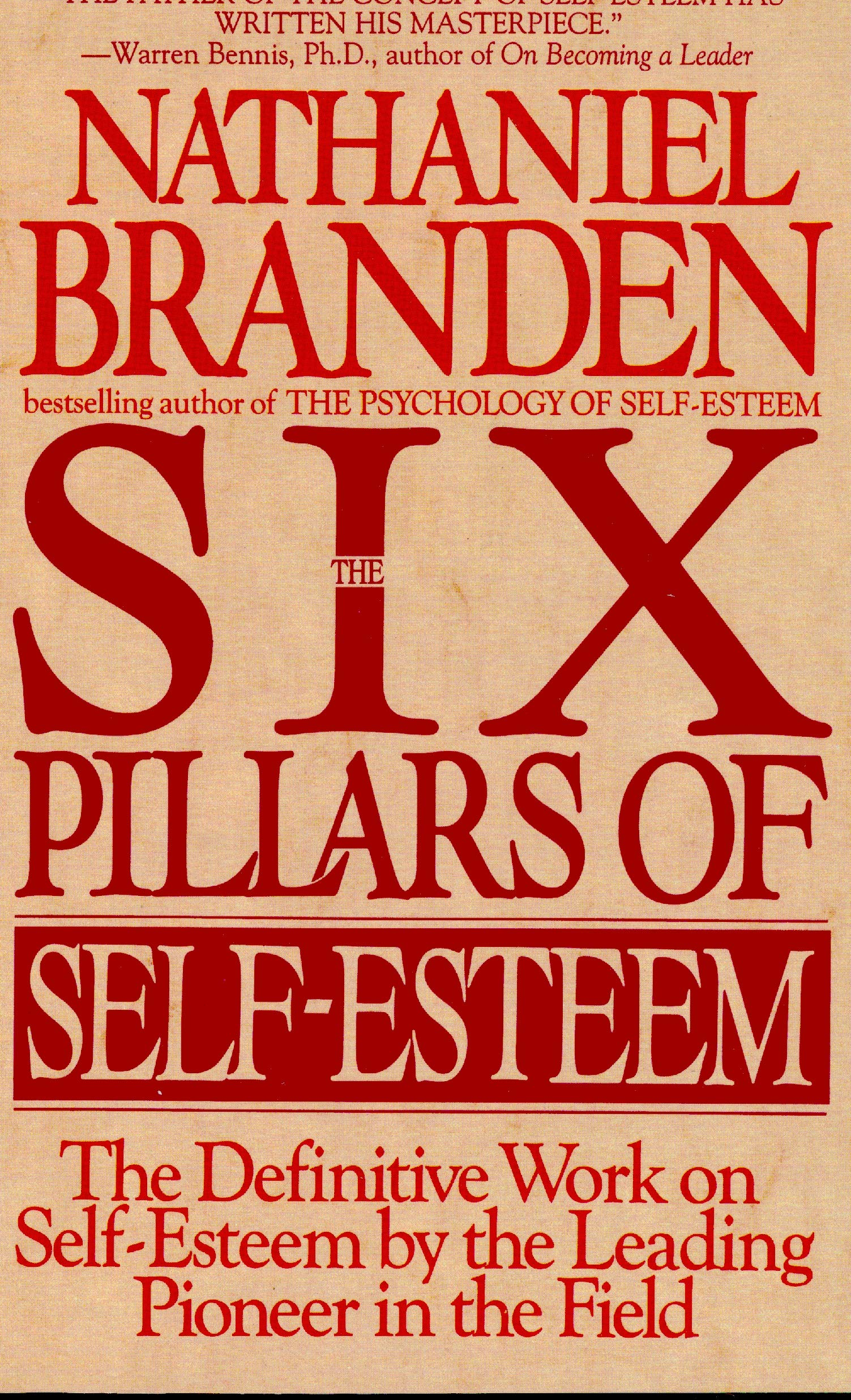 The Six Pillars of Self-Esteem book cover; best books on confidence