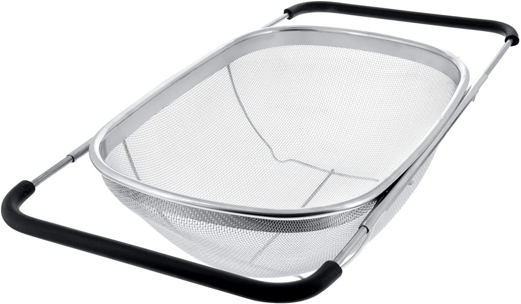 U.S. Kitchen Supply Premium Quality Over The Sink Stainless Steel Oval Colander