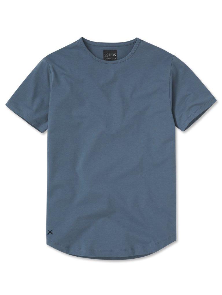cuts clothing blue t-shirt
