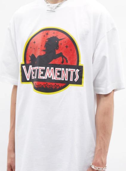 Vetements-Wild-Unicorn-Print-Cotton-Jersey-T-Shirt, best designer T-Shirts for men