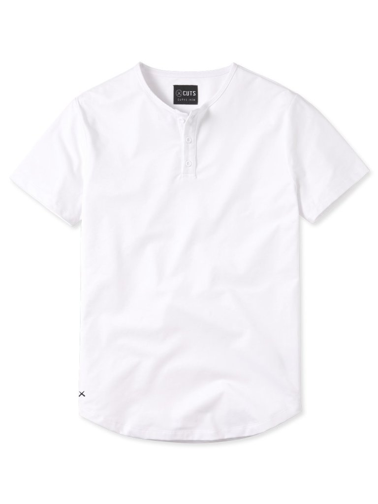 white henley shirt from cuts clothing
