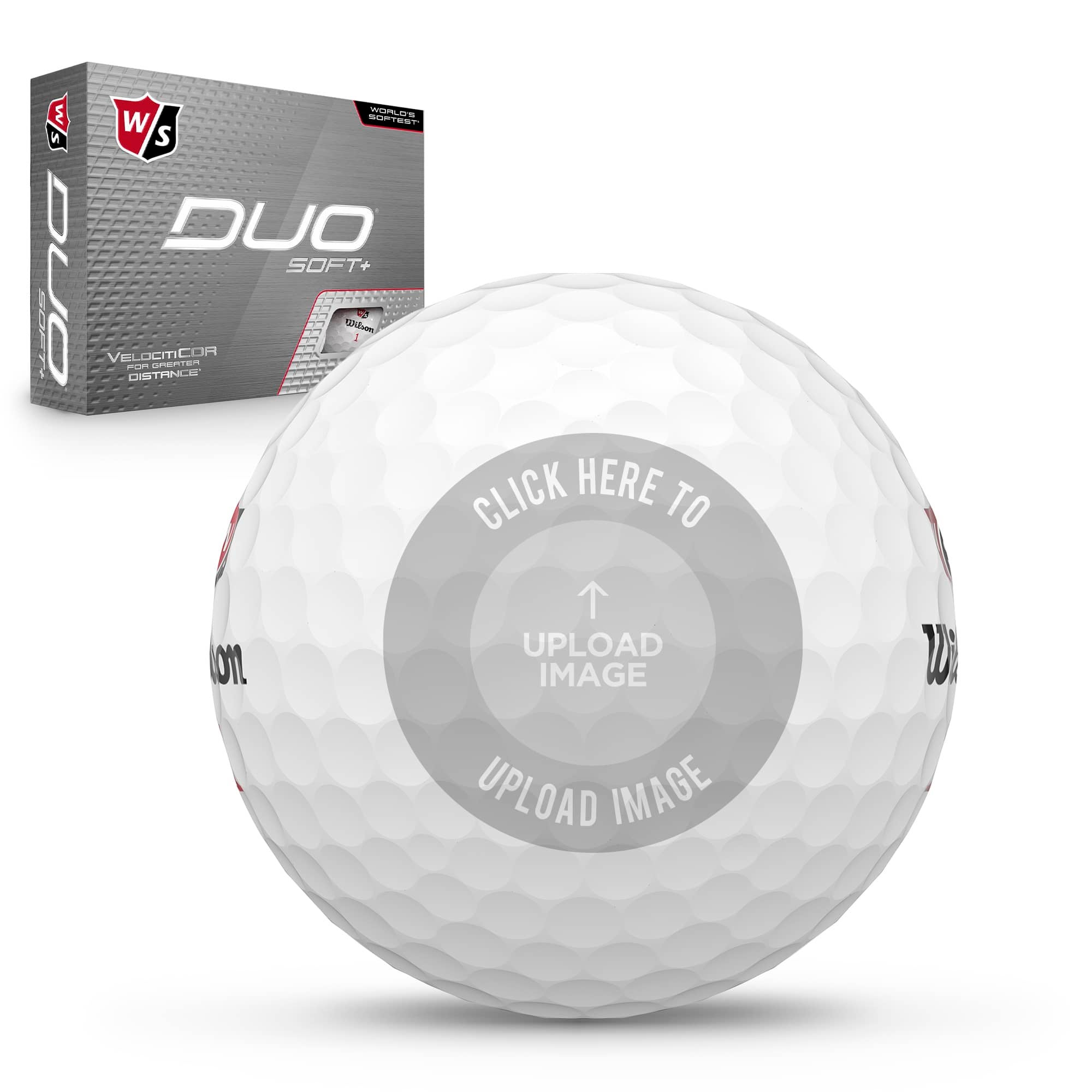 Wilson Staff Duo Soft Golf Balls with personalization