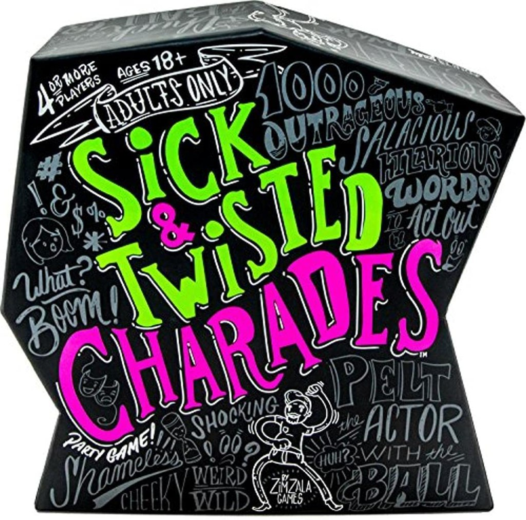 Wonder Forge Sick & Twisted Charades Party Game for Adults