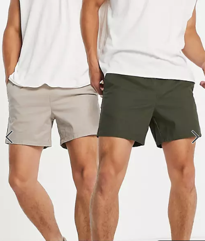 asos-design-two-pack-chino-shorts