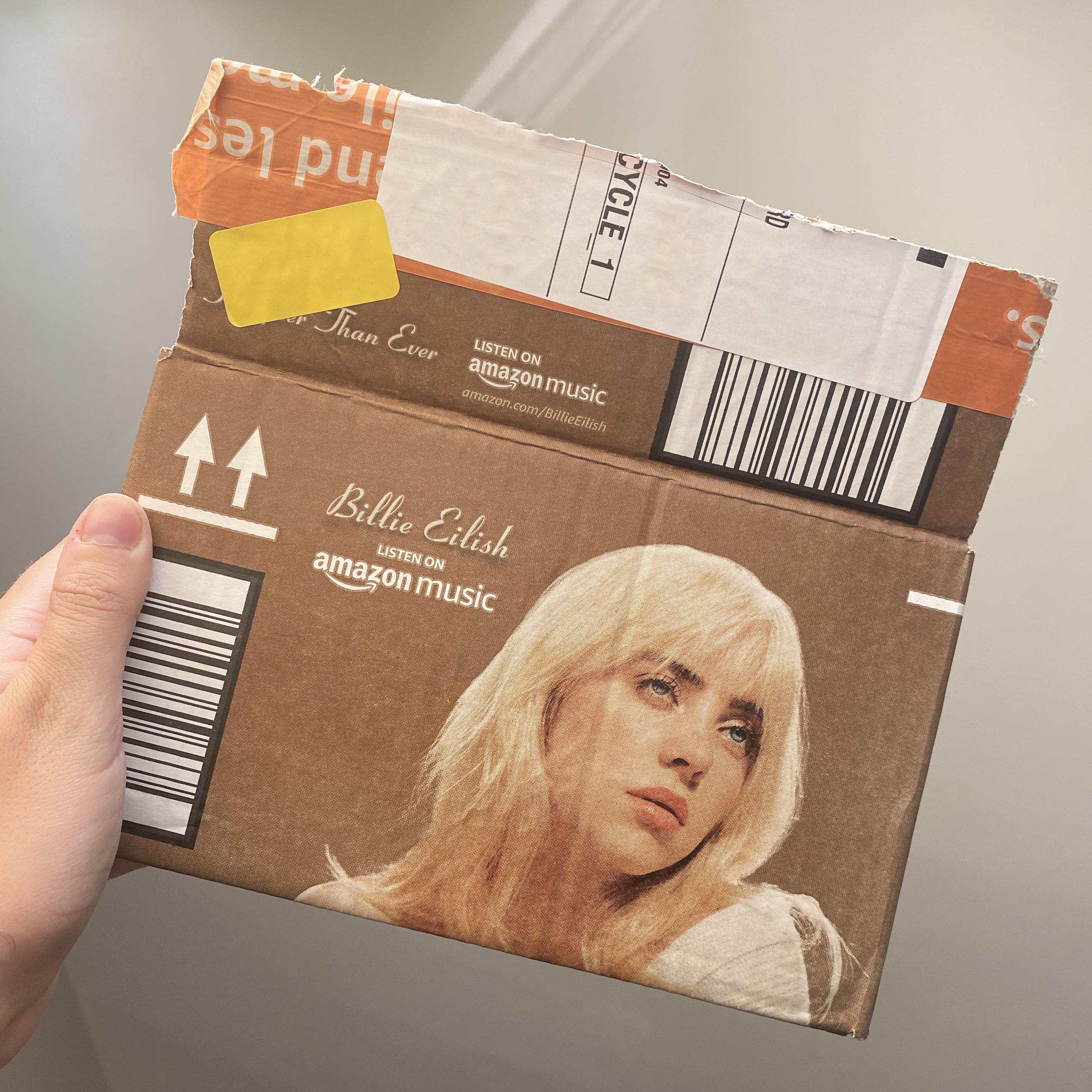 Happier Than Ever Billie Eilish Amazon Box