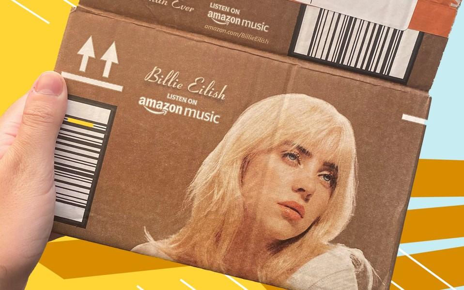 Billie Eilish Amazon Boxes