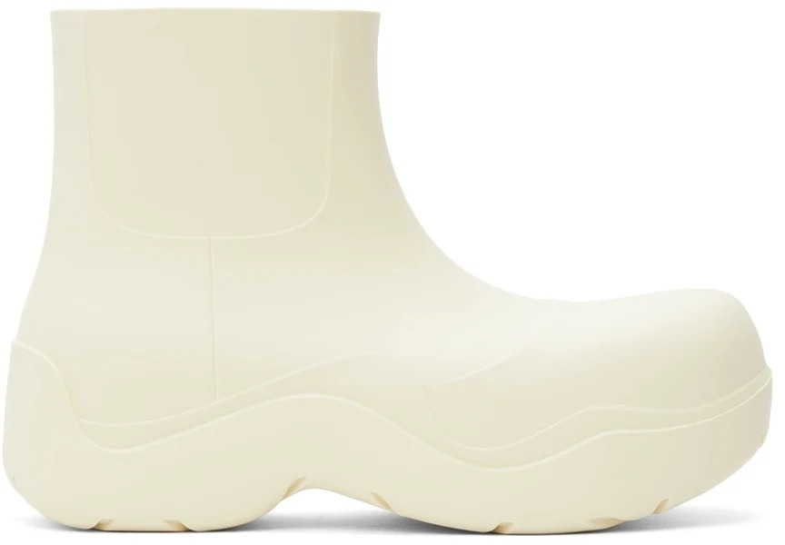Ottega Veneta Off-White Puddle Chelsea Boots