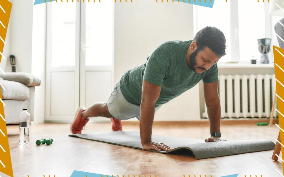 man on workout mat