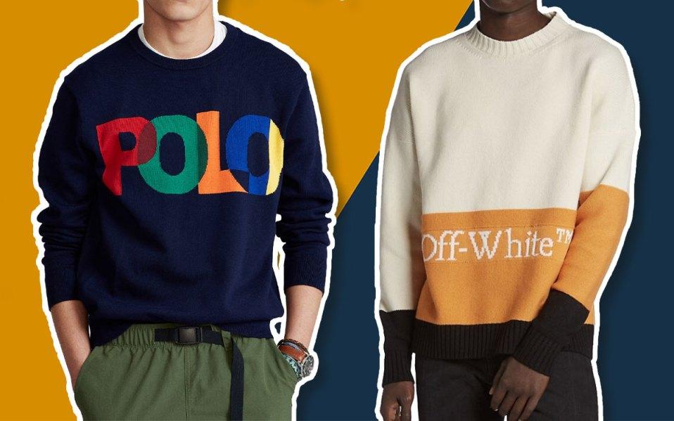 designer logo sweaters for men fall
