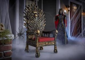 home accent holidays halloween decorative bone throne