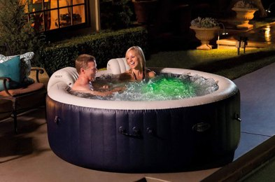 inflatable hot tubs are portable, temporary and most importantly, relaxing