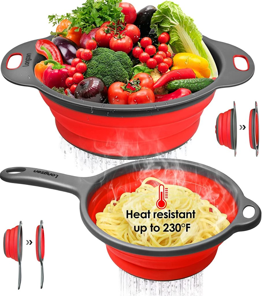 Iongzon Collapsible Silicone Colanders