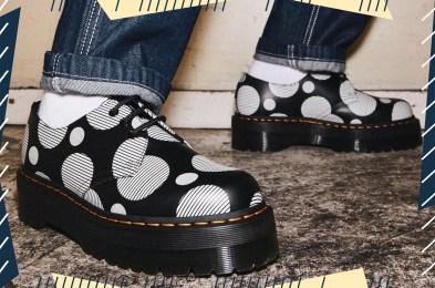 Dr Martens 1461 Polka Dot Smooth Leather Platform Shoes