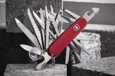 from cutting paper to filing nails, swiss army knives remain the benchmark for multi-tool pocketknives
