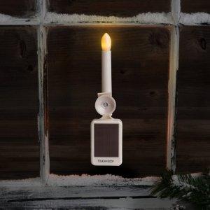 the holiday aisle led flame window candle