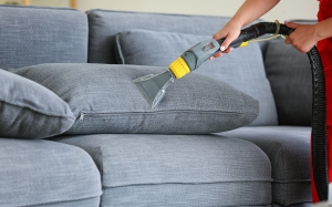 vacuuming a couch, how to clean a couch