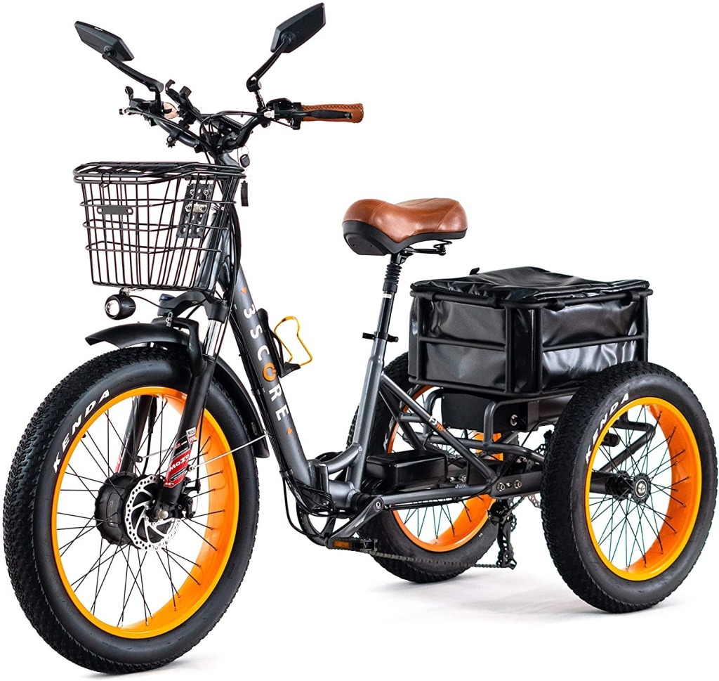 3SCORE Electric Fat Trike, best electric tricycles for adults