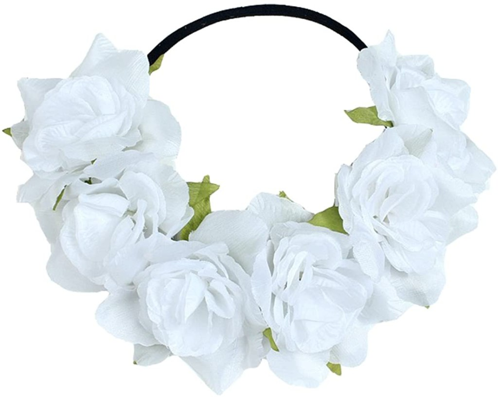 Floral Fall Rose Holiday Crown