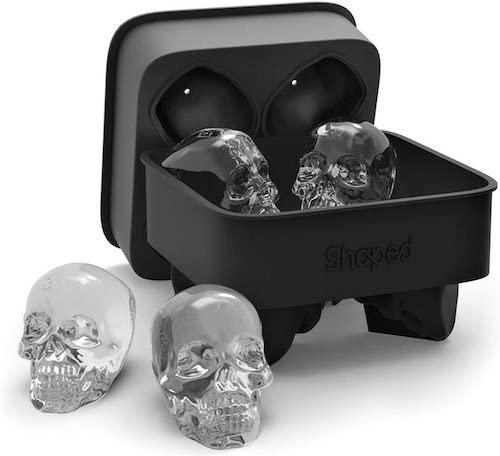 Shaped 3D Skull Ice Mold Tray