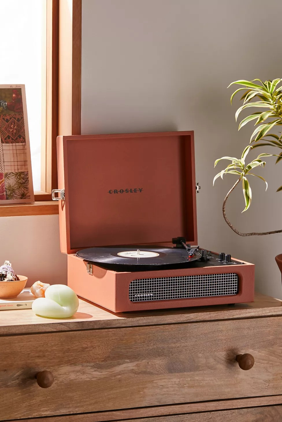 Crosley UO Exclusive Terracotta Voyager Bluetooth Record Player