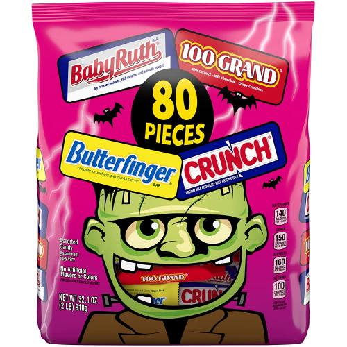 assorted chocolate halloween candy