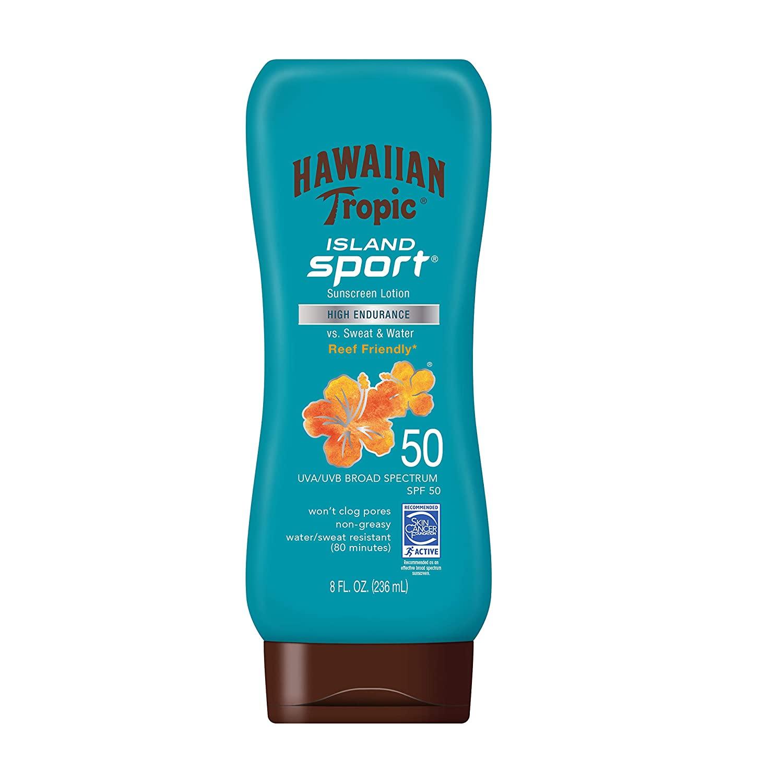 Hawaiian Tropic Island Sport Sunscreen Lotion, best non-greasy sunscreens
