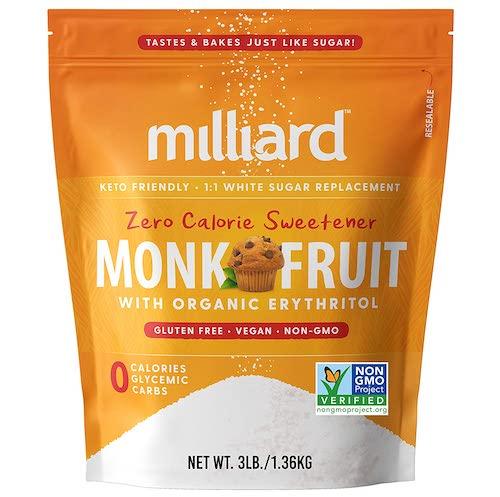 Milliard Monk Fruit Sweetener with Erythritol
