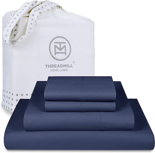 Threadmill 100% Cotton 600-Thread Count Sateen Weave Bed Sheet Set