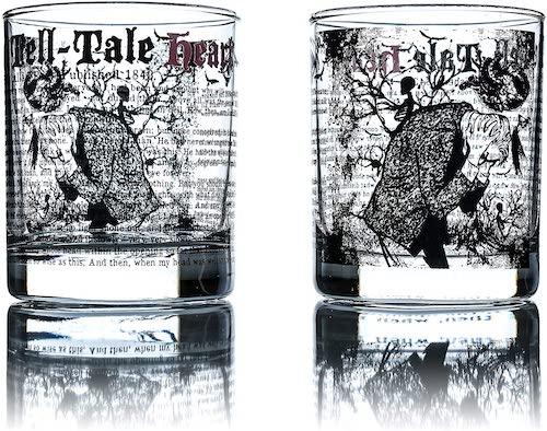 Greenline Goods Edgar Allen Poe Whiskey Glasses (Set of 2)