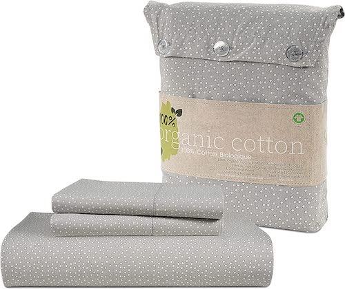 Lane Linen 100% Organic Cotton Flat Sheet Set