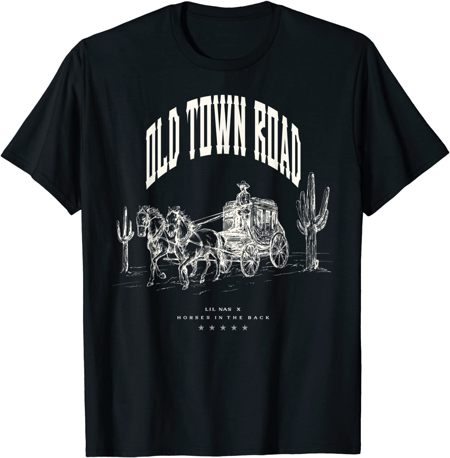 Lil Nas X Official Old Town Road Wagon T-Shirt