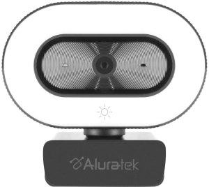 Aluratek - 1080P Live Webcam w/Adjustable Ring Light