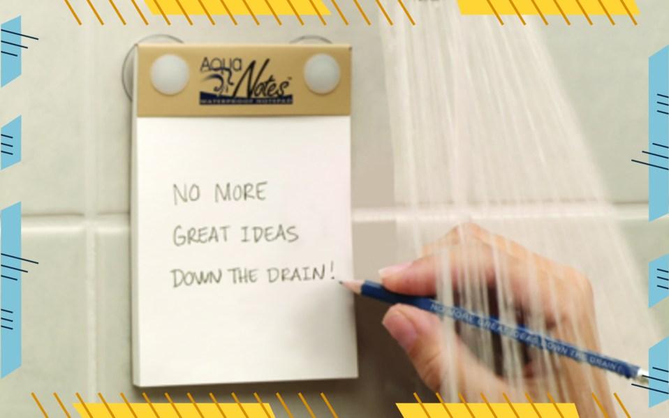 aqua notes notepad