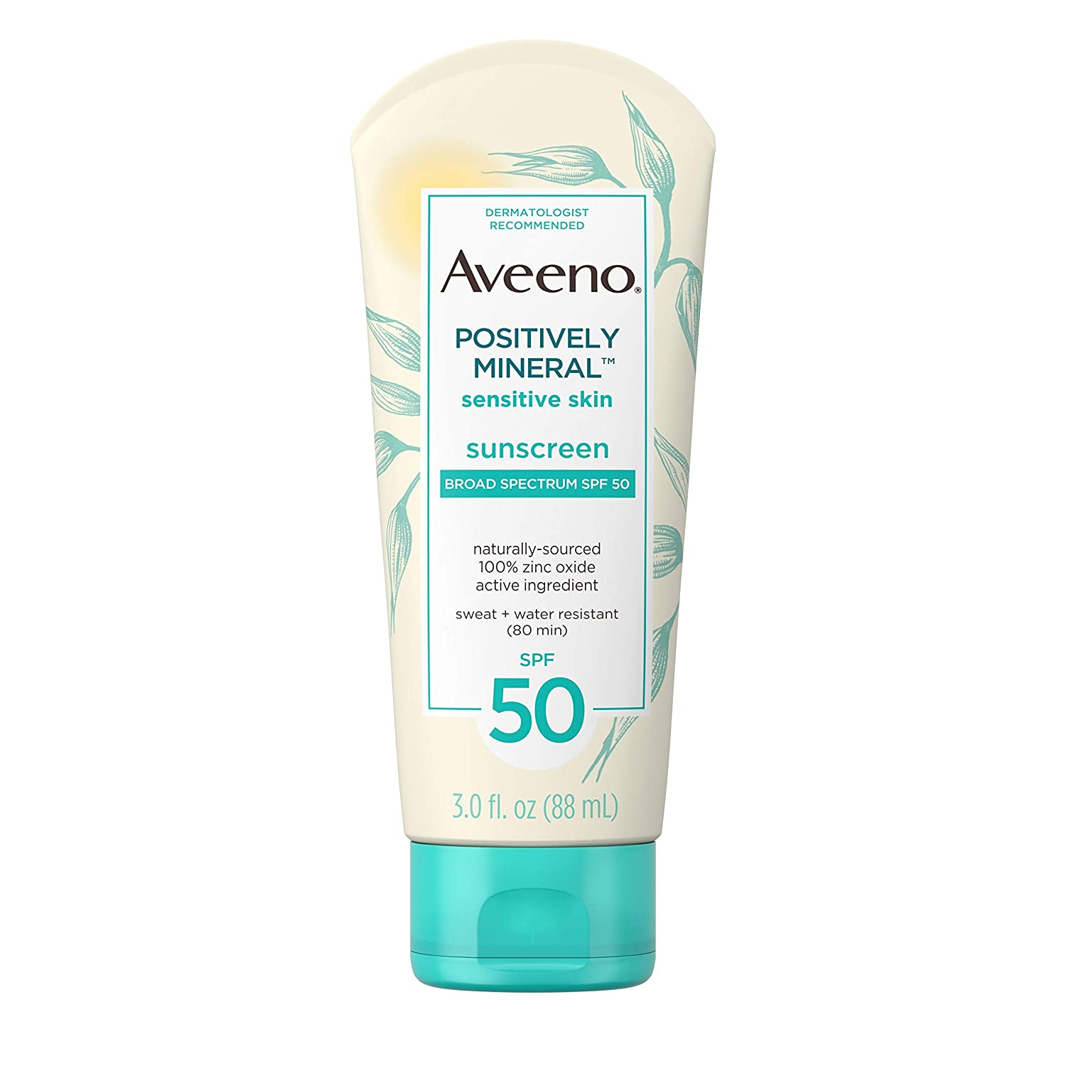 Aveeno Positively Mineral Sensitive Skin Daily Sunscreen; best sunscreen for tattoos