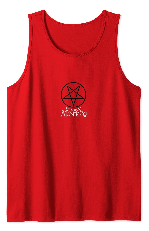 Lil Nas X Official Pentagram Montero Red Tank Top