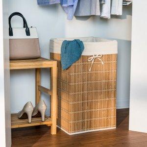 bamboo laundry hamper basket