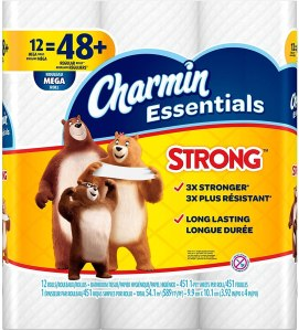 Toilet paper charmin essentials