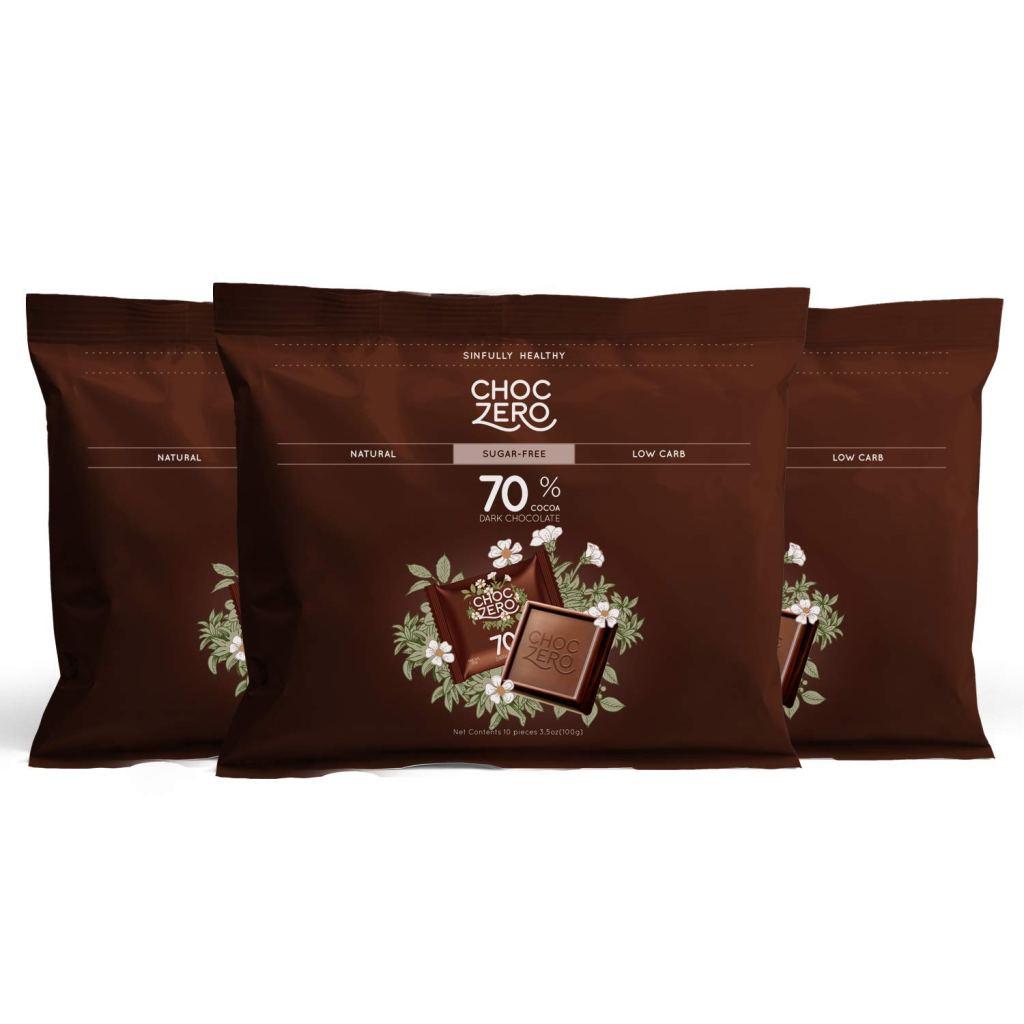 ChocZero Sugar-Free 70% Dark Chocolate, best dark chocolate