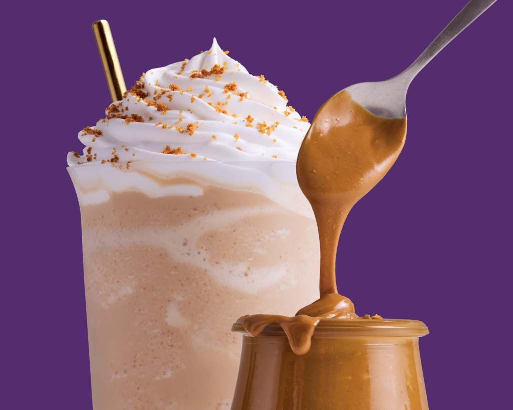 images of caramel and coffee with whipped cream from the coffee bean coffee delas